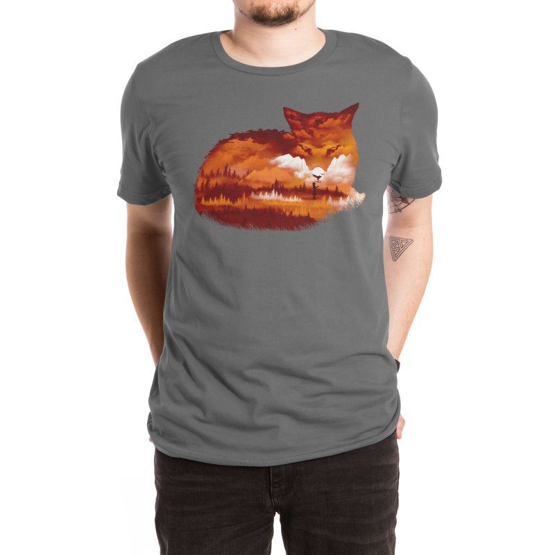 The Girl in the Red Forest (Black Variant) Men's T-Shirt by Threadless Artist Shop