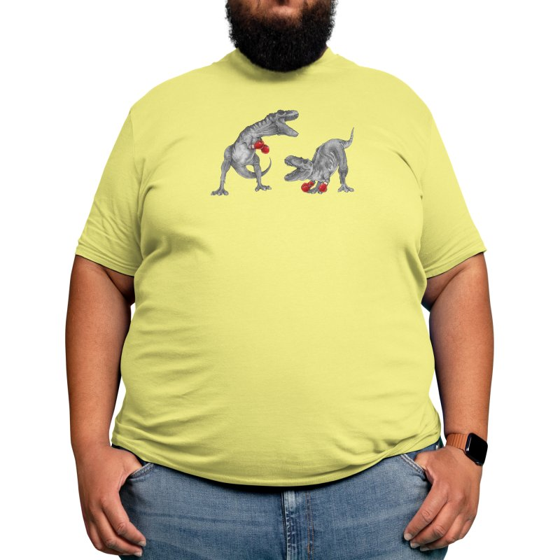 T-Rex Boxing (Black Variant) Men's T-Shirt by Threadless Artist Shop