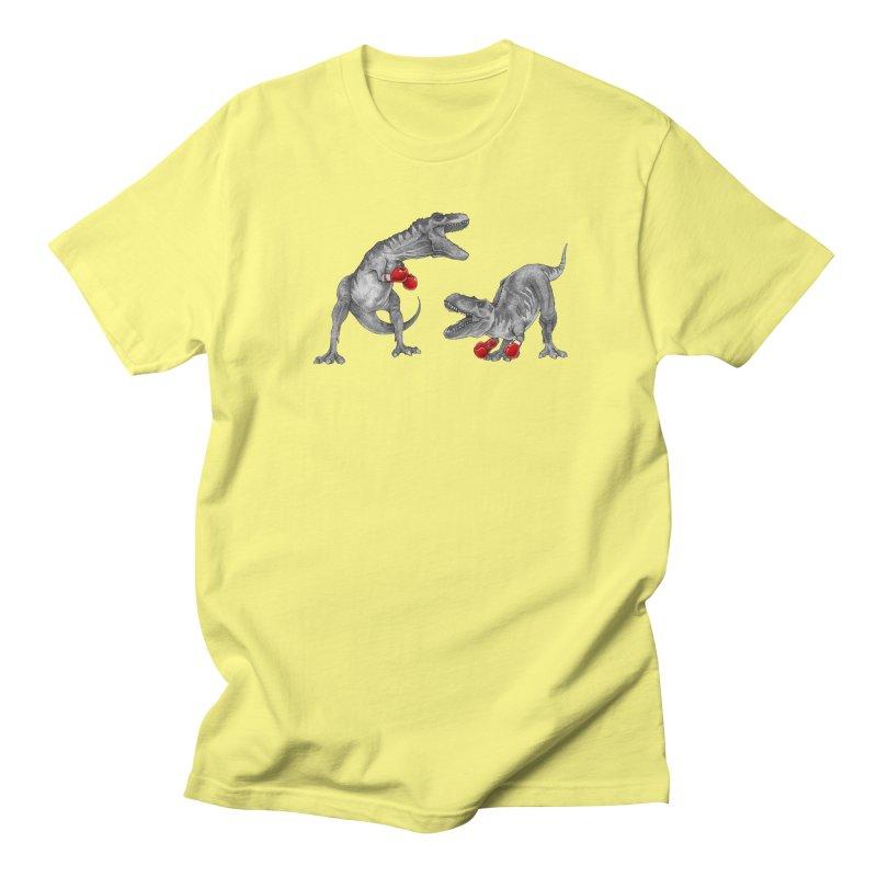 T-Rex Boxing (Black Variant) Women's T-Shirt by Threadless Artist Shop