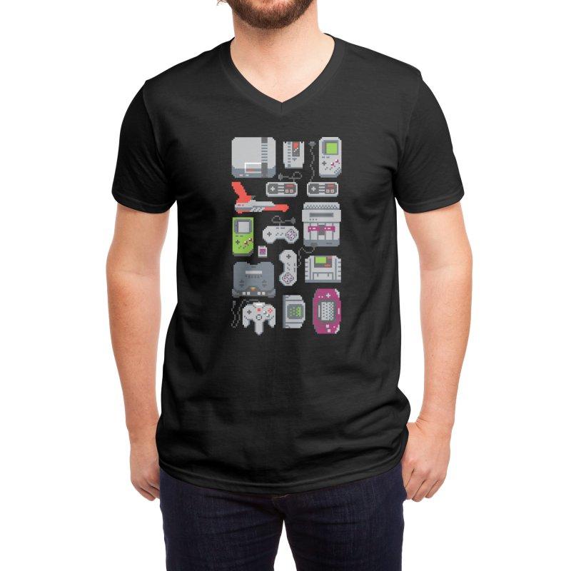 A Pixel of My Childhood (Black Variant) Men's V-Neck by Threadless Artist Shop