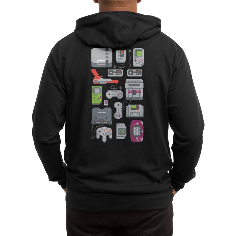 A Pixel of My Childhood (Black Variant) Men's Zip-Up Hoody by Threadless Artist Shop
