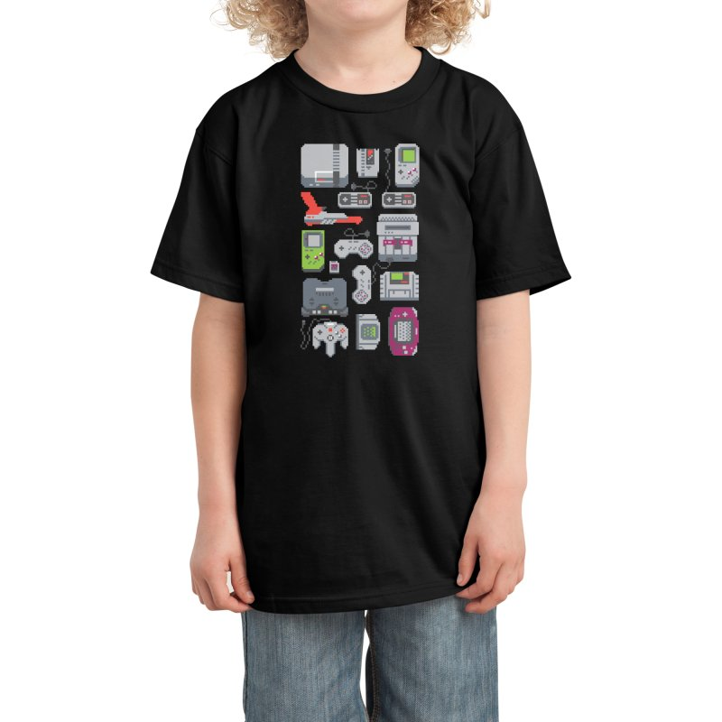 A Pixel of My Childhood (Black Variant) Kids T-Shirt by Threadless Artist Shop