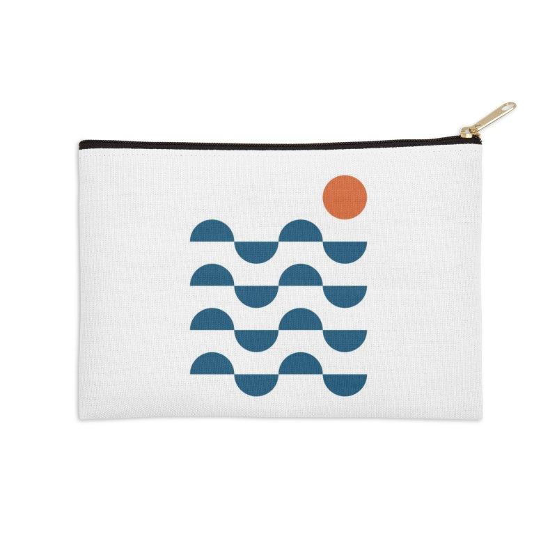 Regular Waves Accessories Zip Pouch by Threadless Artist Shop