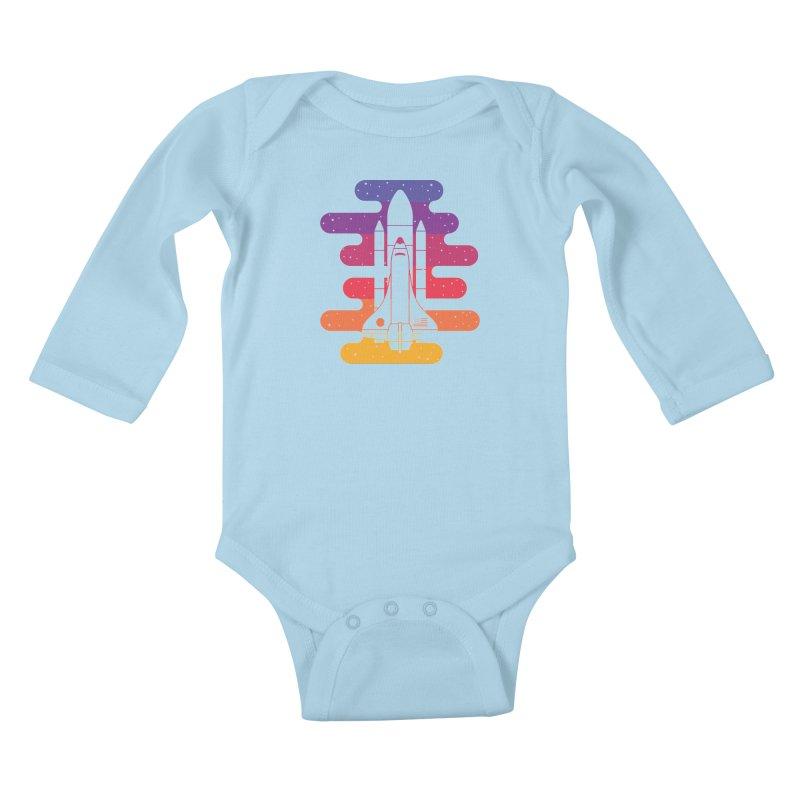 Into The Night Kids Baby Longsleeve Bodysuit by Threadless Artist Shop