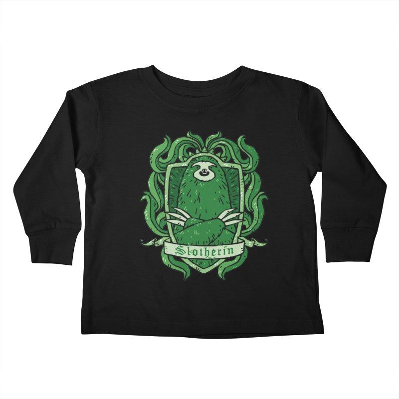 Slotherin Kids Toddler Longsleeve T-Shirt by Threadless Artist Shop