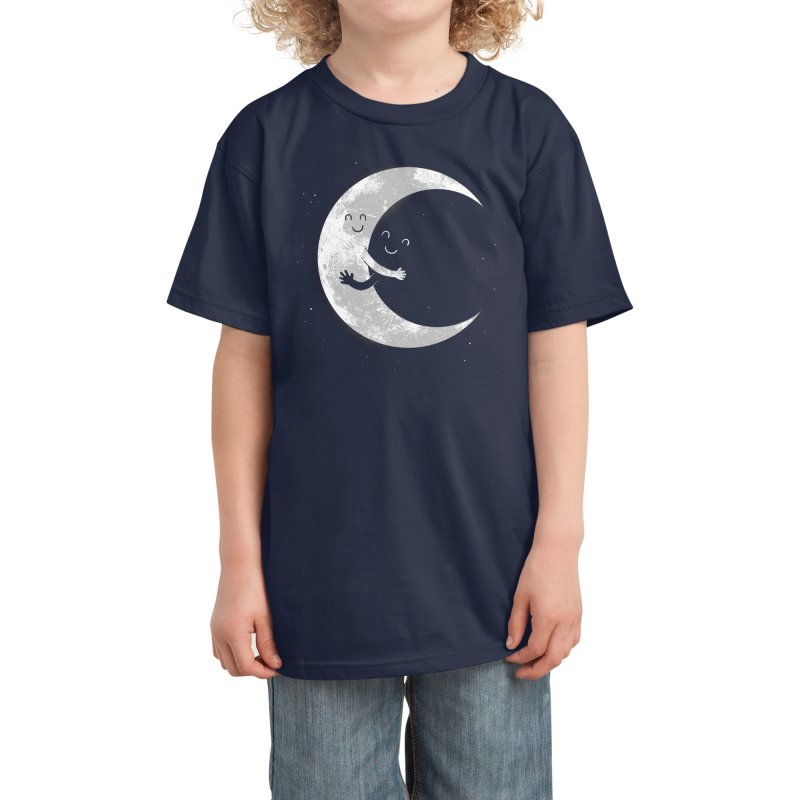 Moon Hug Kids T-Shirt by Threadless Artist Shop