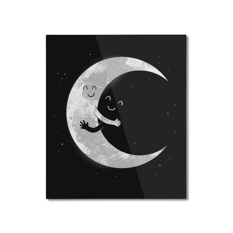 Moon Hug Home Mounted Aluminum Print by Threadless Artist Shop