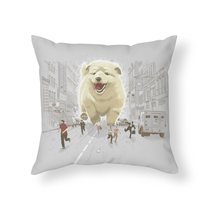 Attack of the Cutest Monster Home Throw Pillow by Threadless Artist Shop