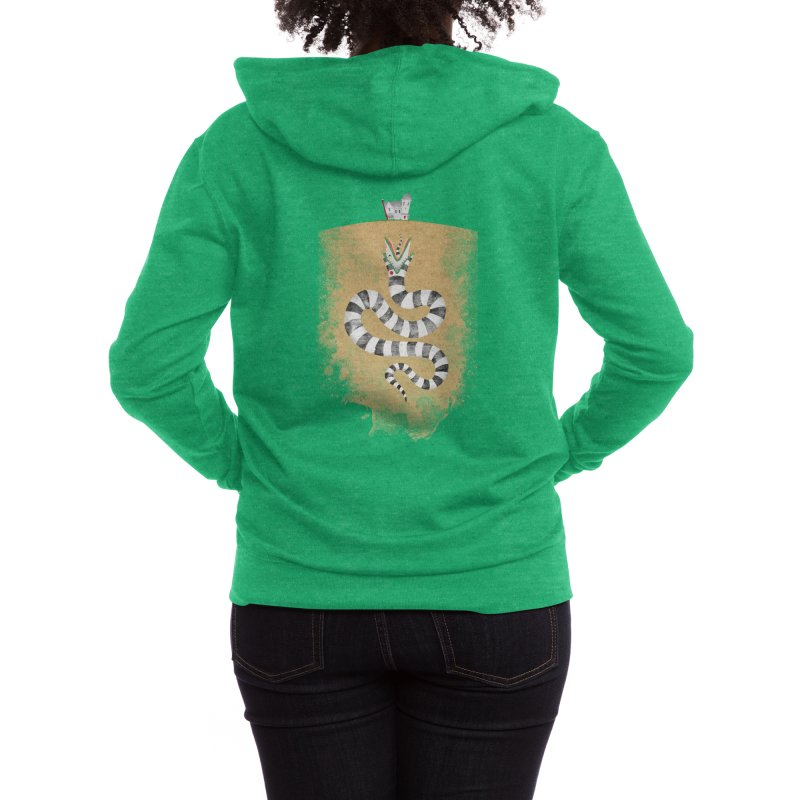 Recently Deceased Women's Zip-Up Hoody by Threadless Artist Shop