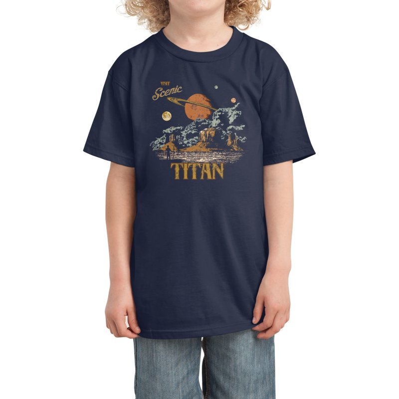 Visit Scenic Titan Kids T-Shirt by Threadless Artist Shop