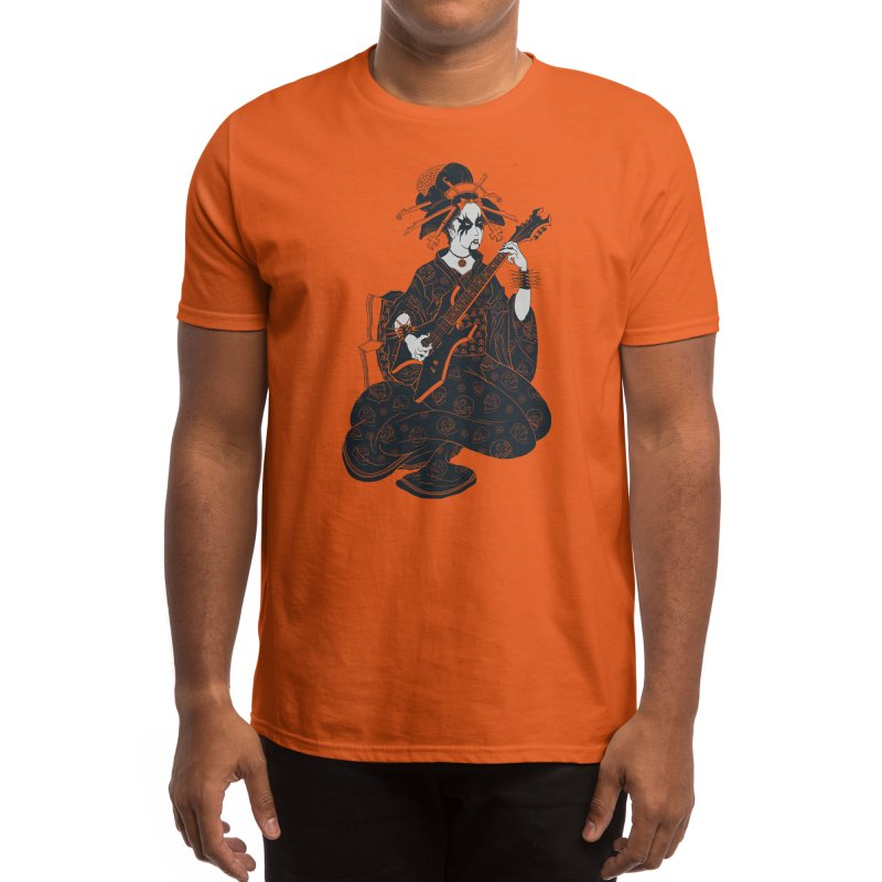 Black Metal Geisha Men's T-Shirt by Threadless Artist Shop