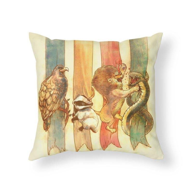 House Brawl Home Throw Pillow by Threadless Artist Shop