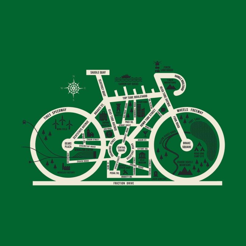 Bike City Map Men's T-Shirt by Threadless Artist Shop