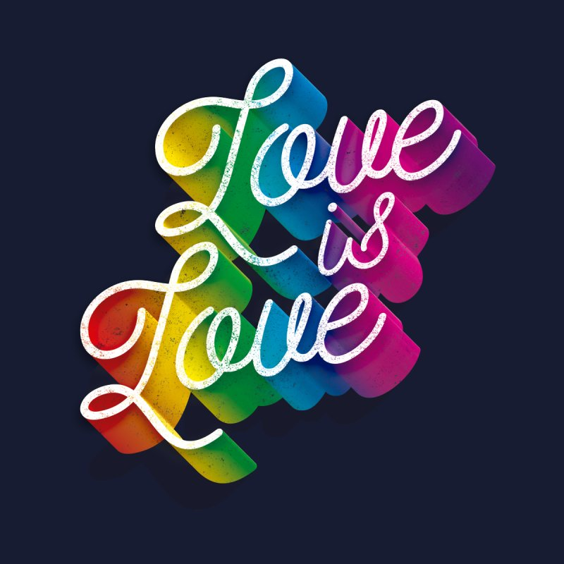 Love is Love Accessories Face Mask by Threadless Artist Shop