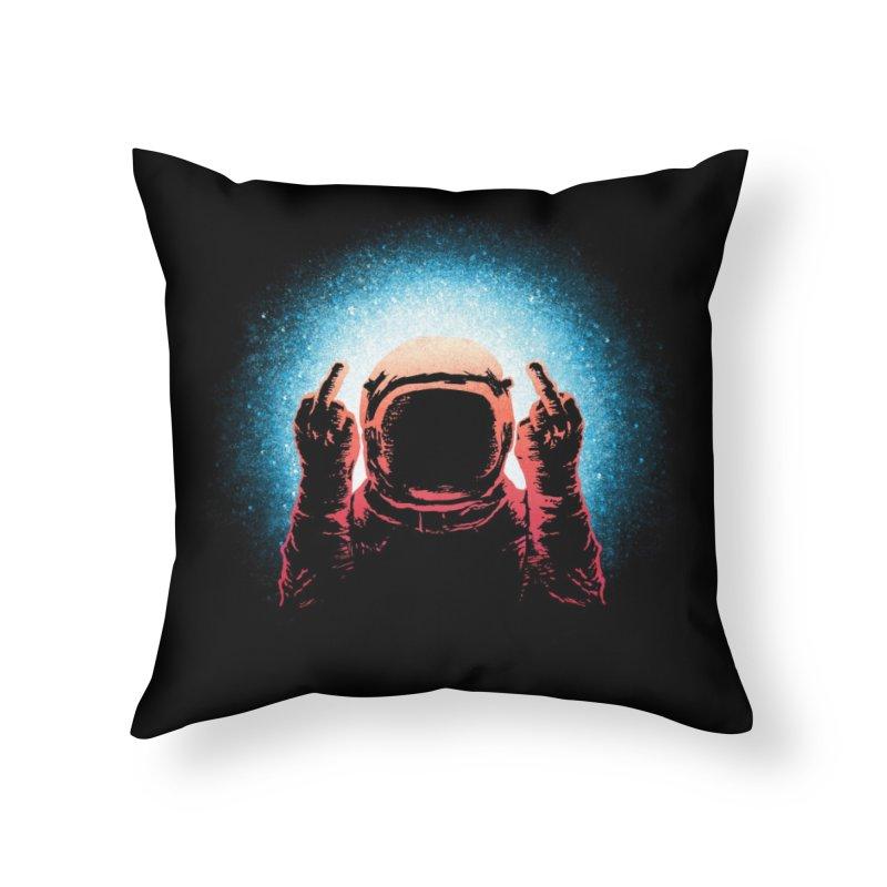 Negative Spaceman Home Throw Pillow by Threadless Artist Shop