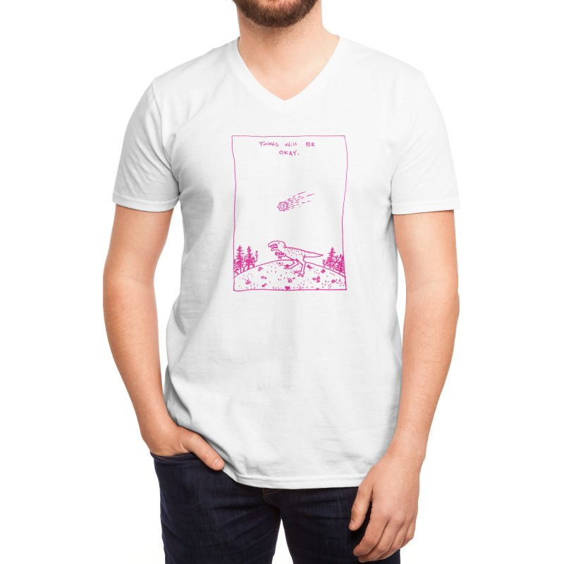 Things Will Be Okay Men's V-Neck by Threadless Artist Shop