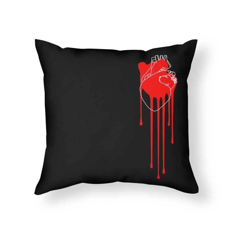 Bleeding Heart Home Throw Pillow by Threadless Artist Shop