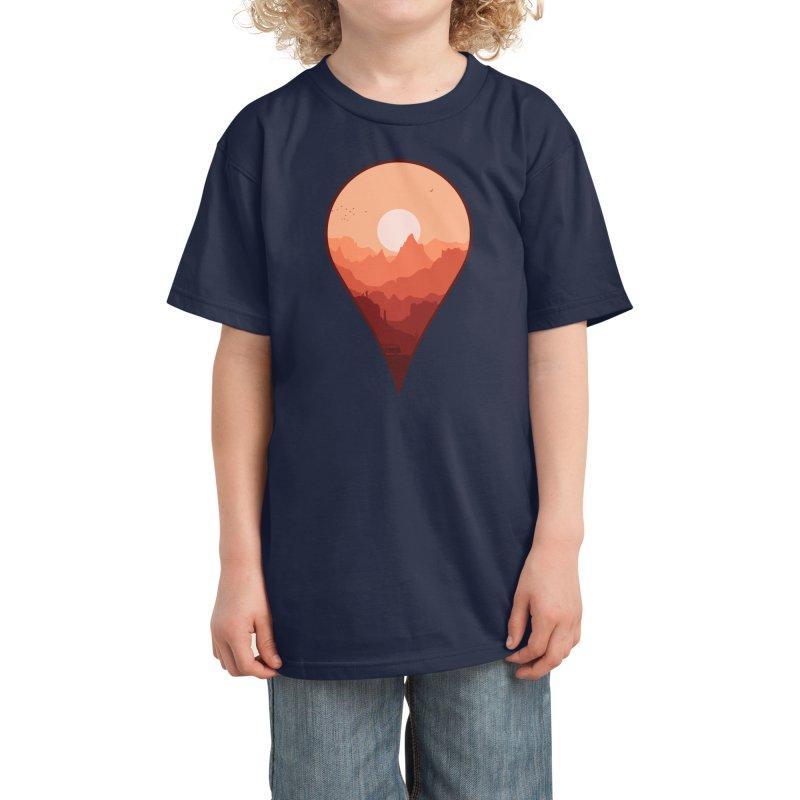 Destination Unknown Kids T-Shirt by Threadless Artist Shop