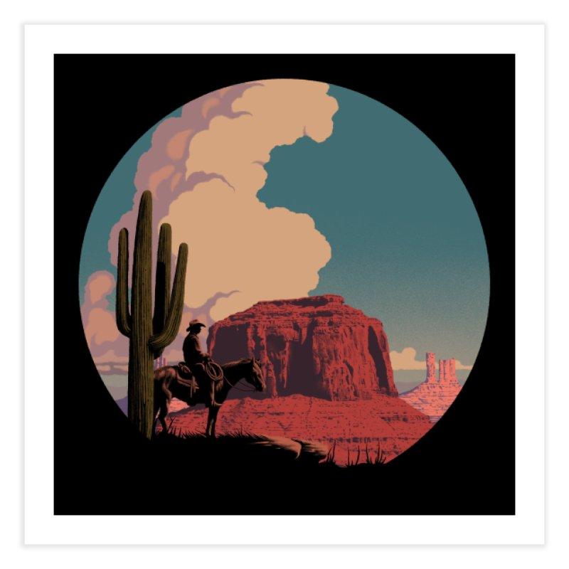 Desert Rider Home Fine Art Print by Threadless Artist Shop