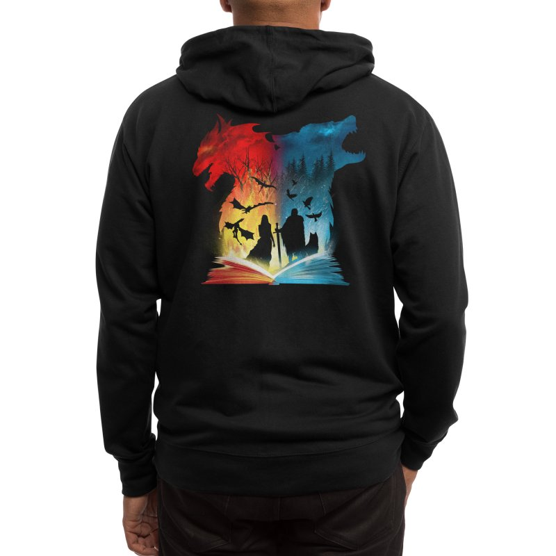 Book of Fire and Ice Men's Zip-Up Hoody by Threadless Artist Shop