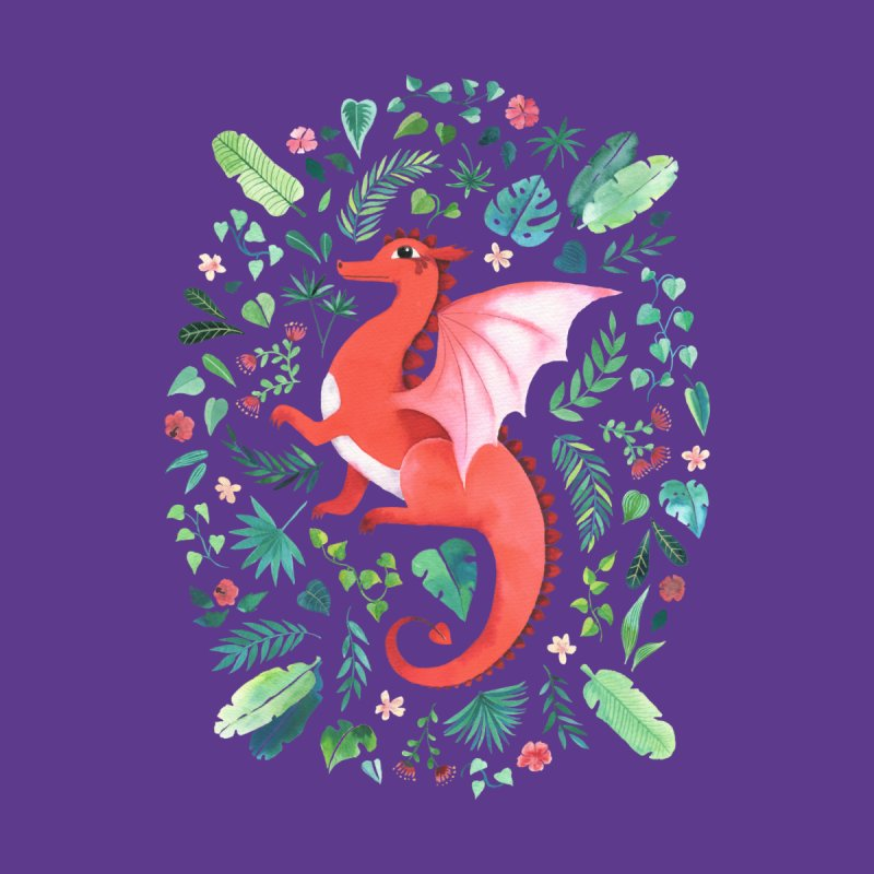 Tropical Dragon Kids T-Shirt by Threadless Artist Shop