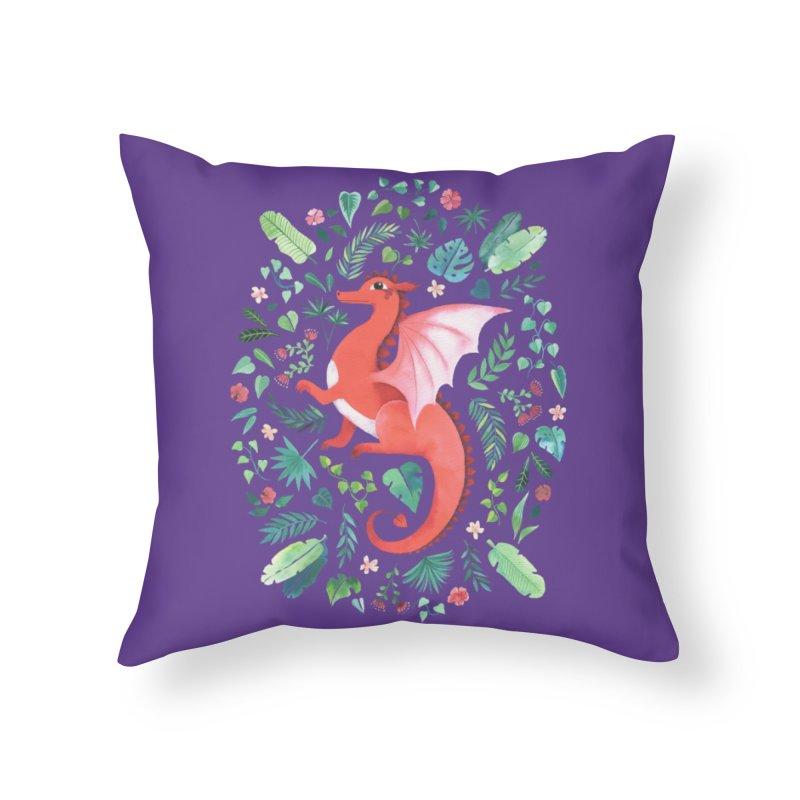 Tropical Dragon Home Throw Pillow by Threadless Artist Shop