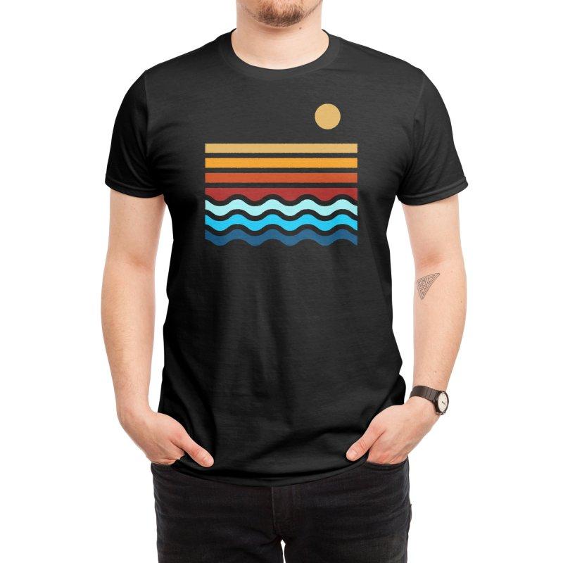 Beach Stack (Black Variant) Men's T-Shirt by Threadless Artist Shop