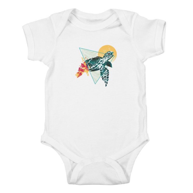 Geometric Turtle Kids Baby Bodysuit by Threadless Artist Shop