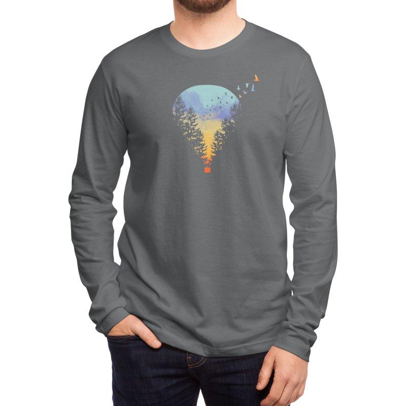 Flying Far Far Away (Black Variant) Men's Longsleeve T-Shirt by Threadless Artist Shop
