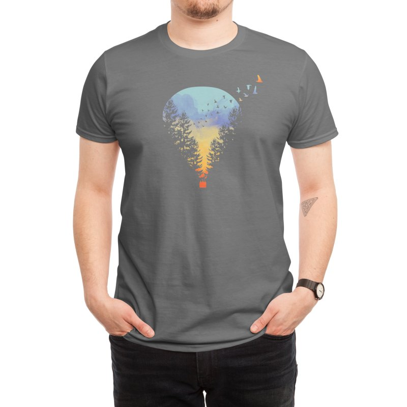 Flying Far Far Away (Black Variant) Men's T-Shirt by Threadless Artist Shop