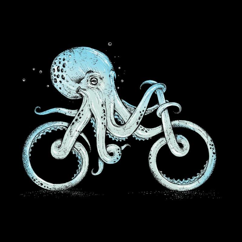 Octopus Bike (Black Variant) Accessories Mug by Threadless Artist Shop