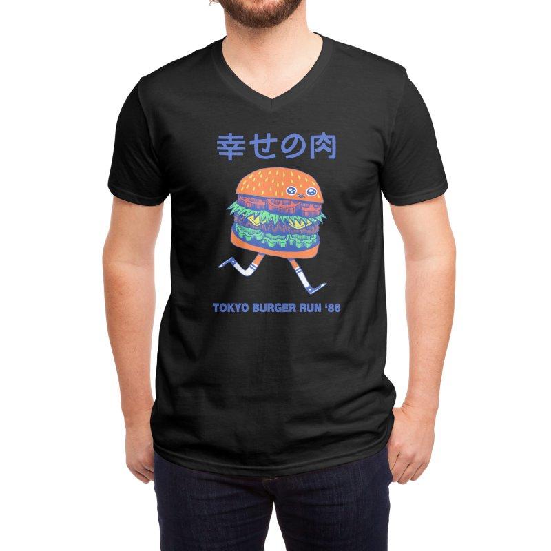 Burgerman (Black Variant) Men's V-Neck by Threadless Artist Shop