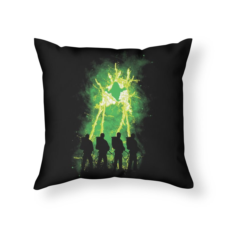 Cleaning Up Town Home Throw Pillow by Threadless Artist Shop