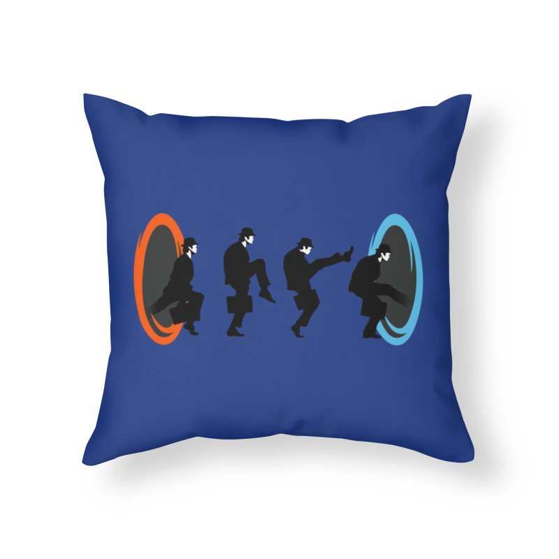 Ministry of Silly Portal Home Throw Pillow by Threadless Artist Shop