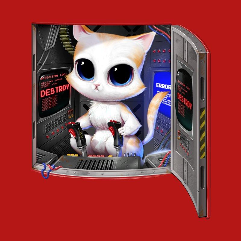 Cat Piloted Cyborg Men's T-Shirt by Threadless Artist Shop