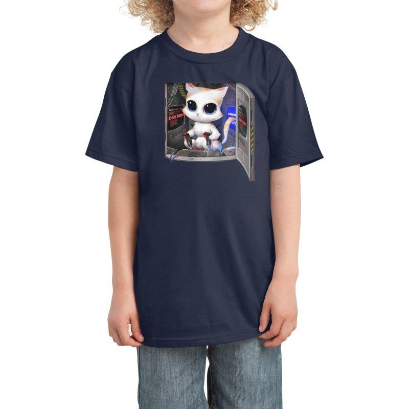 Cat Piloted Cyborg Kids T-Shirt by Threadless Artist Shop