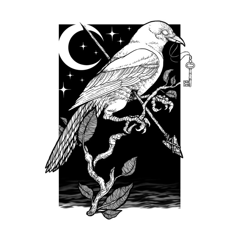 Night Crow Home Fine Art Print by Threadless Artist Shop