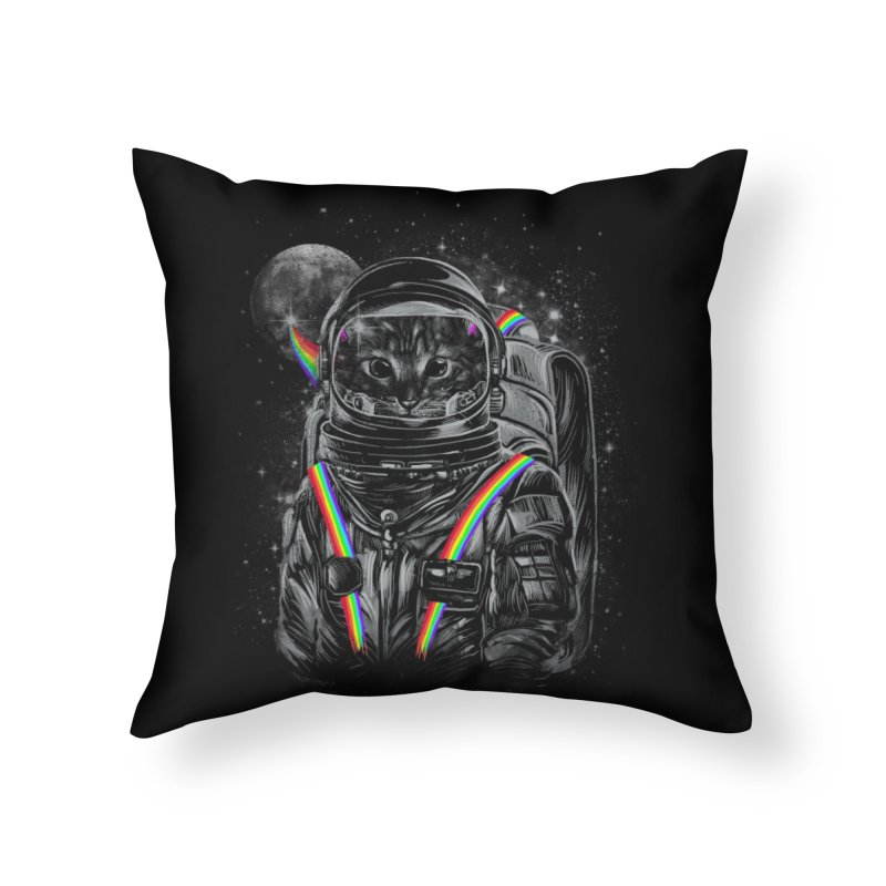 Space Mission Home Throw Pillow by Threadless Artist Shop