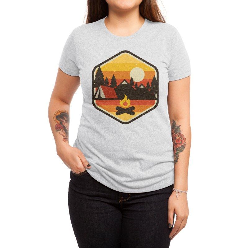 RETRO CAMPING Women's T-Shirt by Threadless Artist Shop