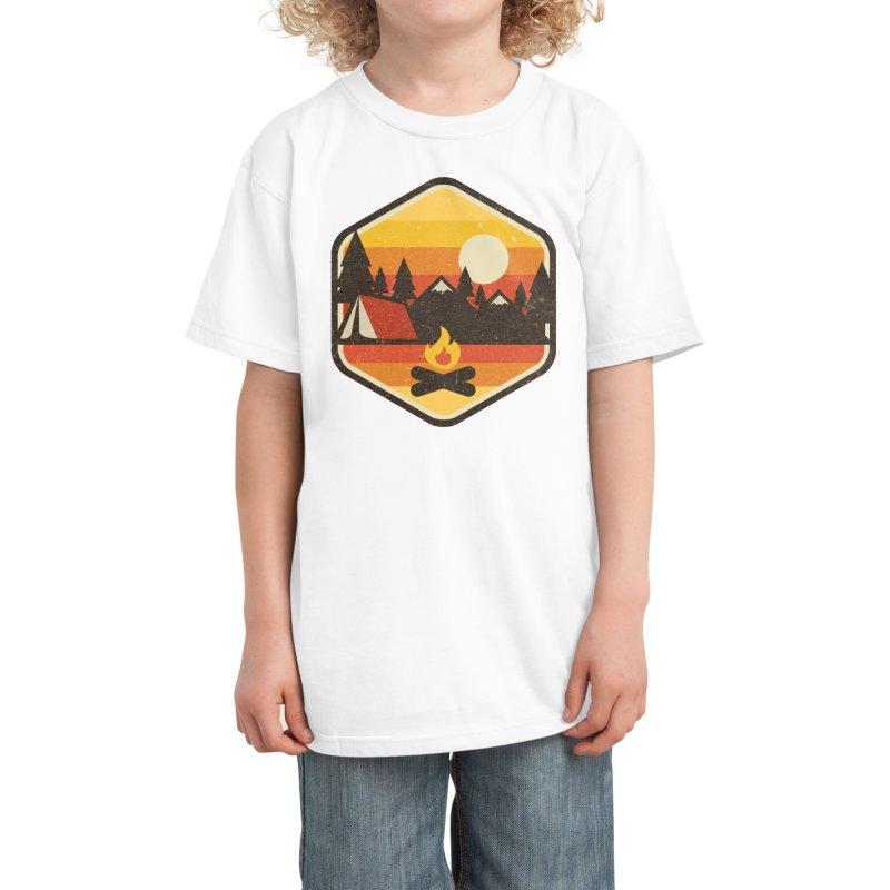 RETRO CAMPING Kids T-Shirt by Threadless Artist Shop