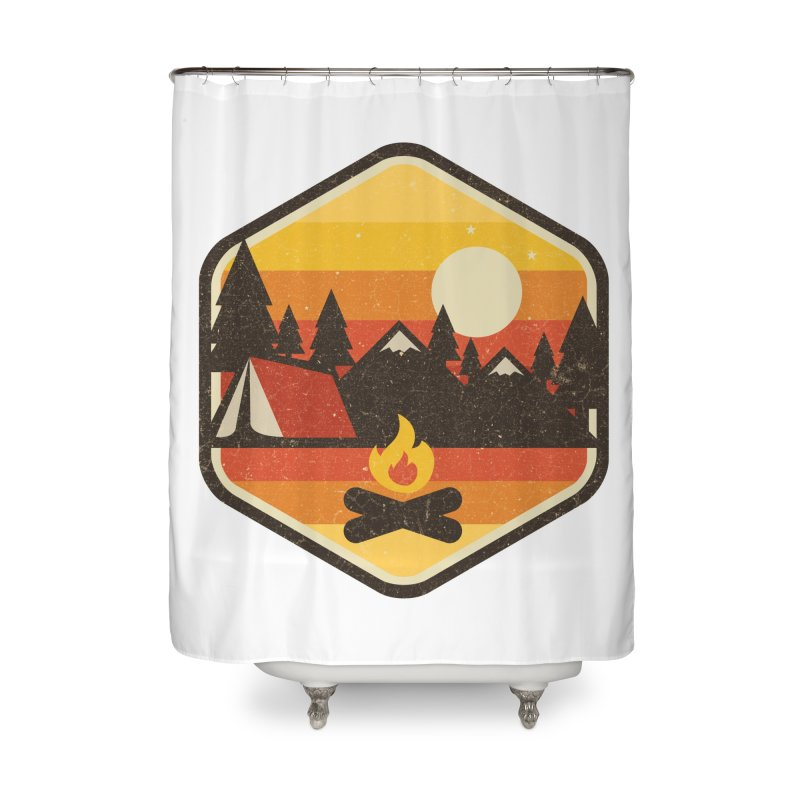 RETRO CAMPING Home Shower Curtain by Threadless Artist Shop