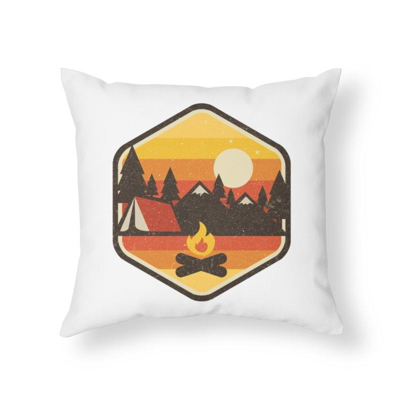 RETRO CAMPING Home Throw Pillow by Threadless Artist Shop