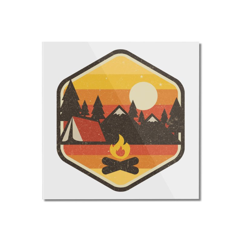 RETRO CAMPING Home Mounted Acrylic Print by Threadless Artist Shop