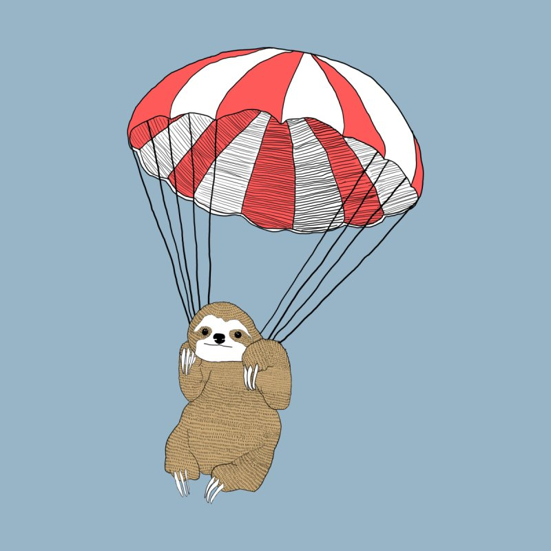 Parachuting Sloth Men's T-Shirt by Threadless Artist Shop