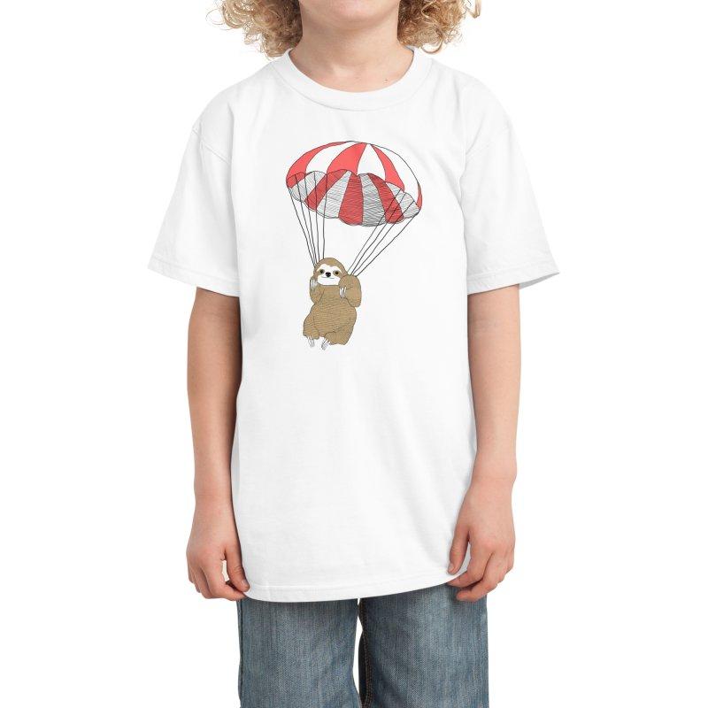 Parachuting Sloth Kids T-Shirt by Threadless Artist Shop