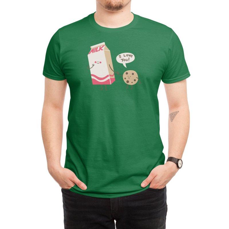 Cookie Loves Milk Men's T-Shirt by Threadless Artist Shop