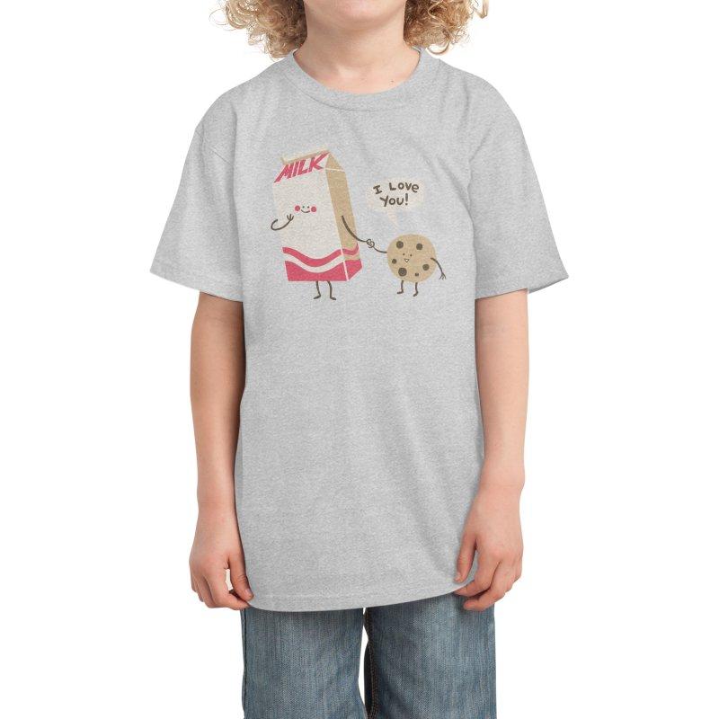 Cookie Loves Milk Kids T-Shirt by Threadless Artist Shop
