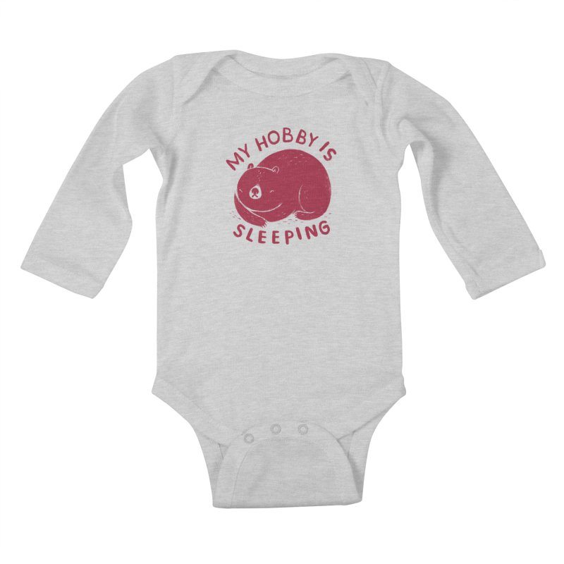 my hobby is sleeping Kids Baby Longsleeve Bodysuit by Threadless Artist Shop