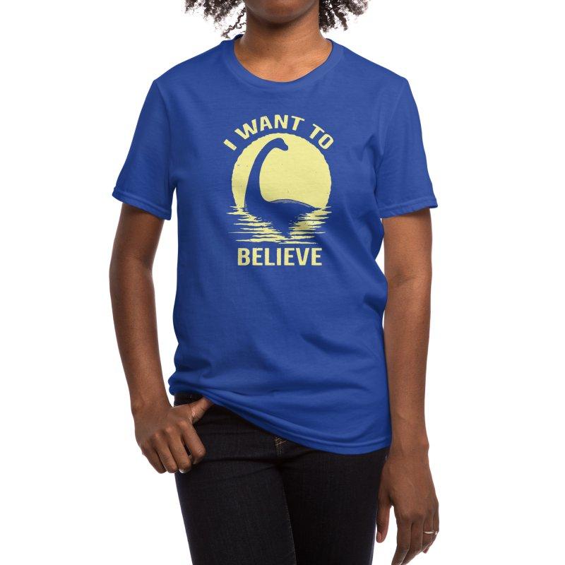 Believe in Nessie Women's T-Shirt by Threadless Artist Shop