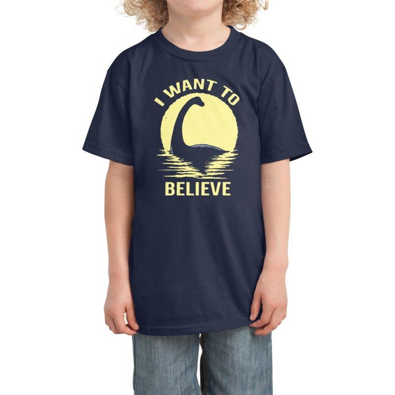 Believe in Nessie Kids T-Shirt by Threadless Artist Shop
